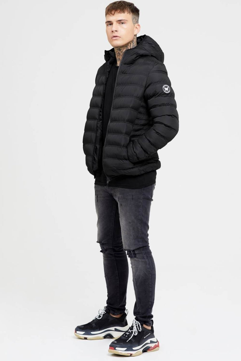 Good For Nothing Element Puffer Jacket - Matte Black - 2