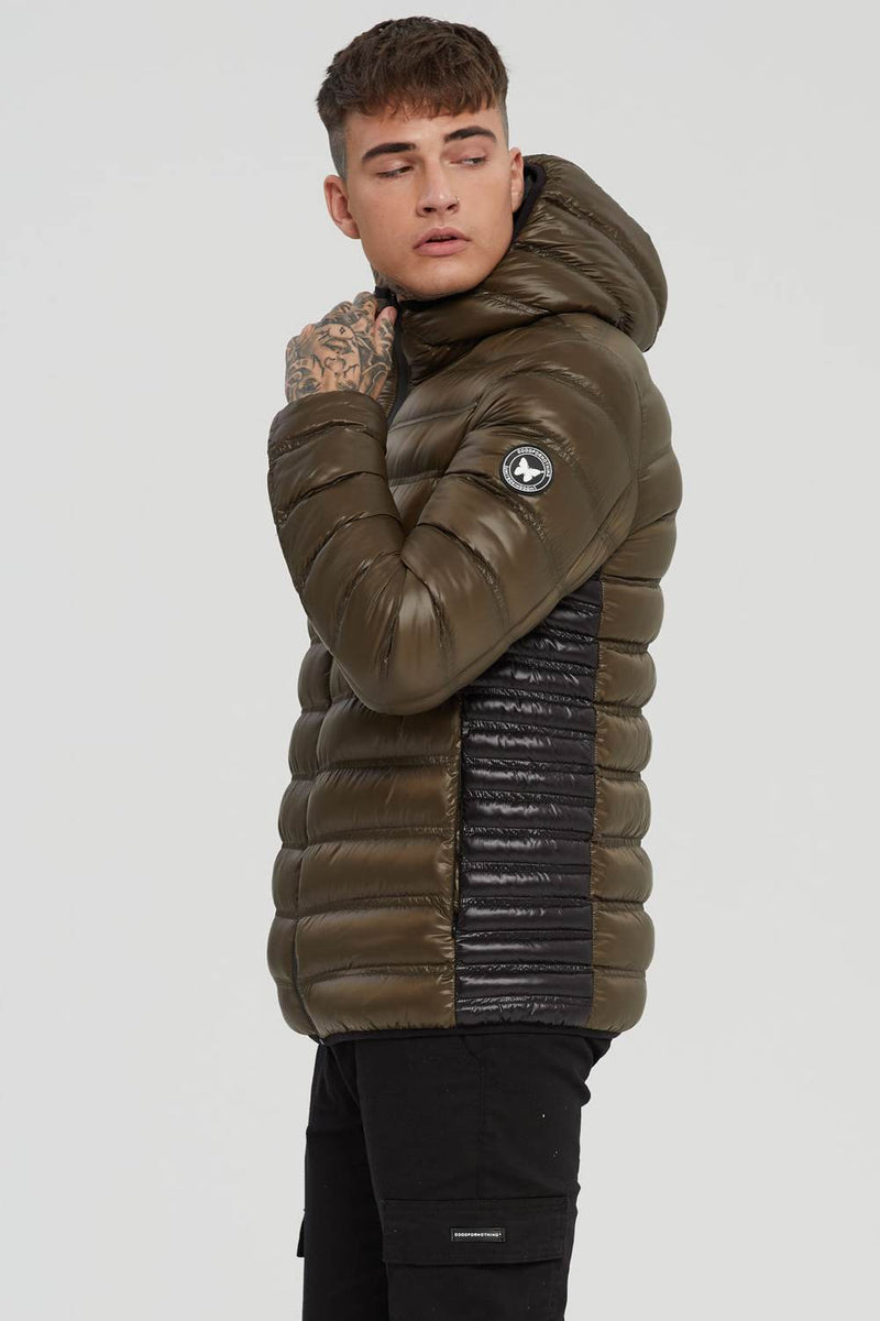 Good For Nothing Element Puffer Jacket - Olive - 2