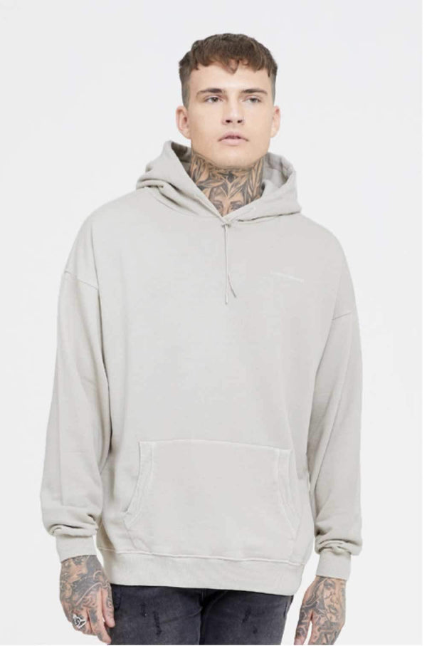 Good For Nothing Fitted Hoodie - Grey