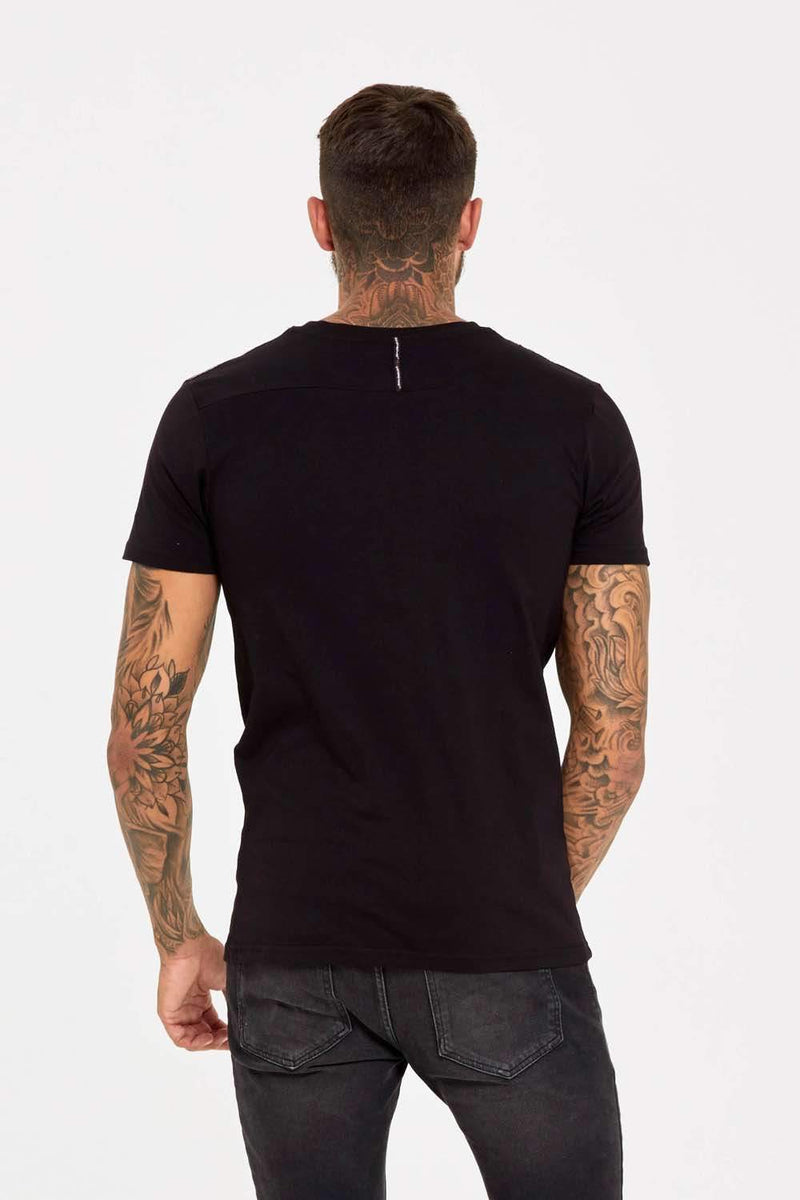 Good For Nothing Fitted Micro Taping T-Shirt - Black - 3