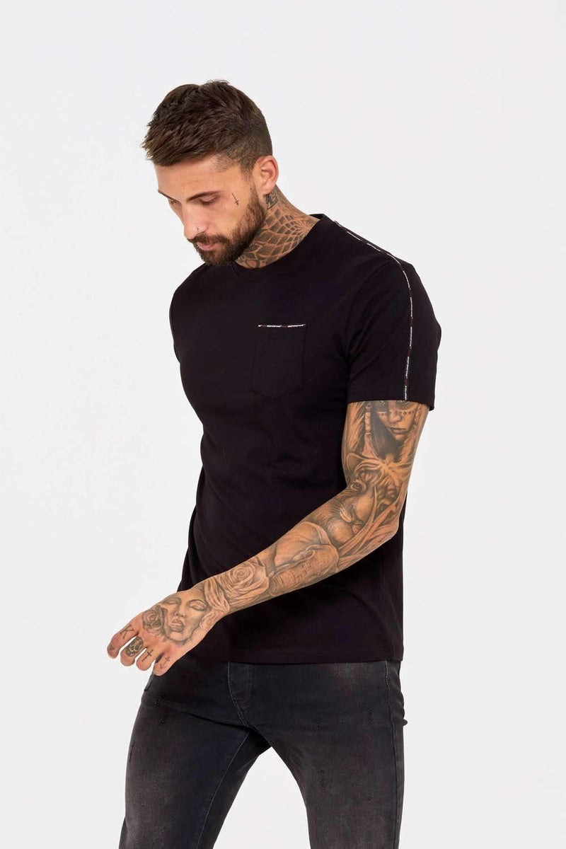 Good For Nothing Fitted Micro Taping T-Shirt - Black - 2