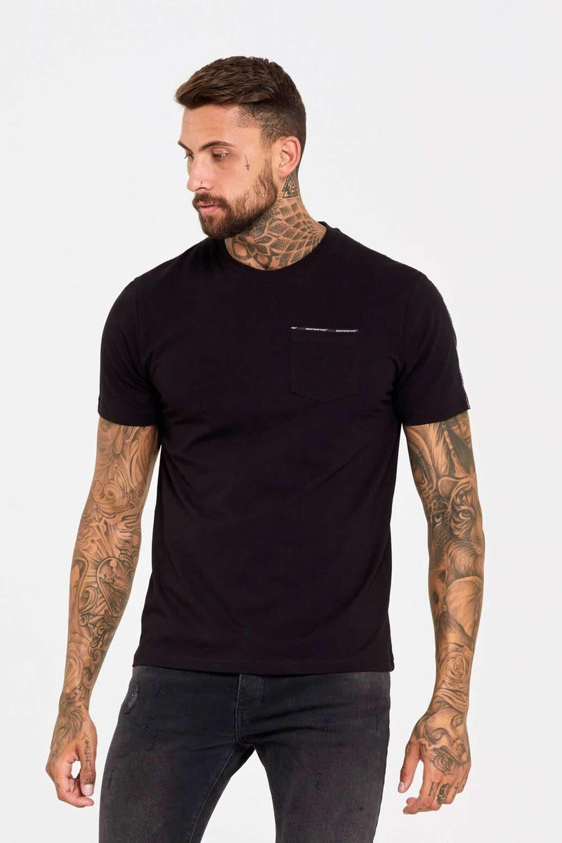 Good For Nothing Fitted Micro Taping T-Shirt - Black - 1