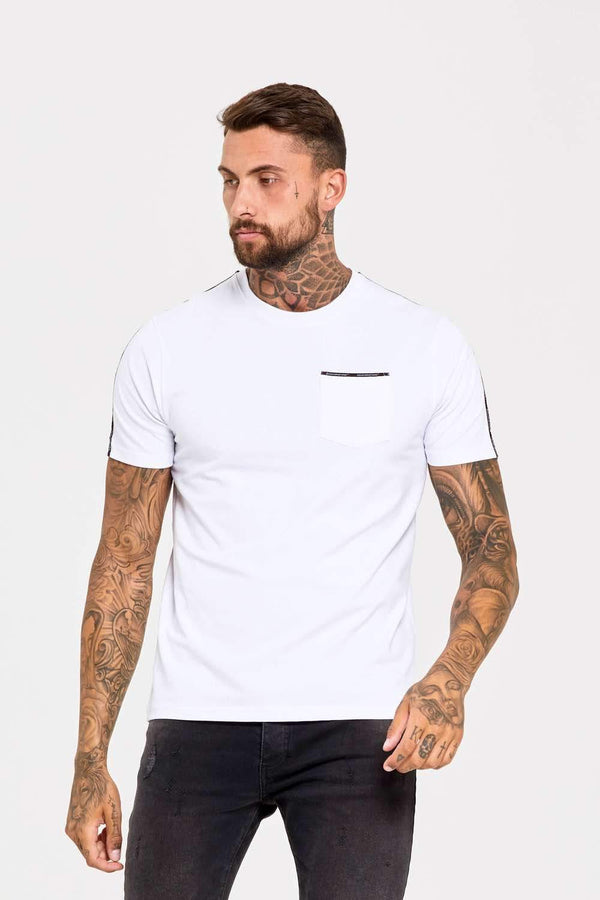 Good For Nothing Fitted Micro Taping T-Shirt - White - 1