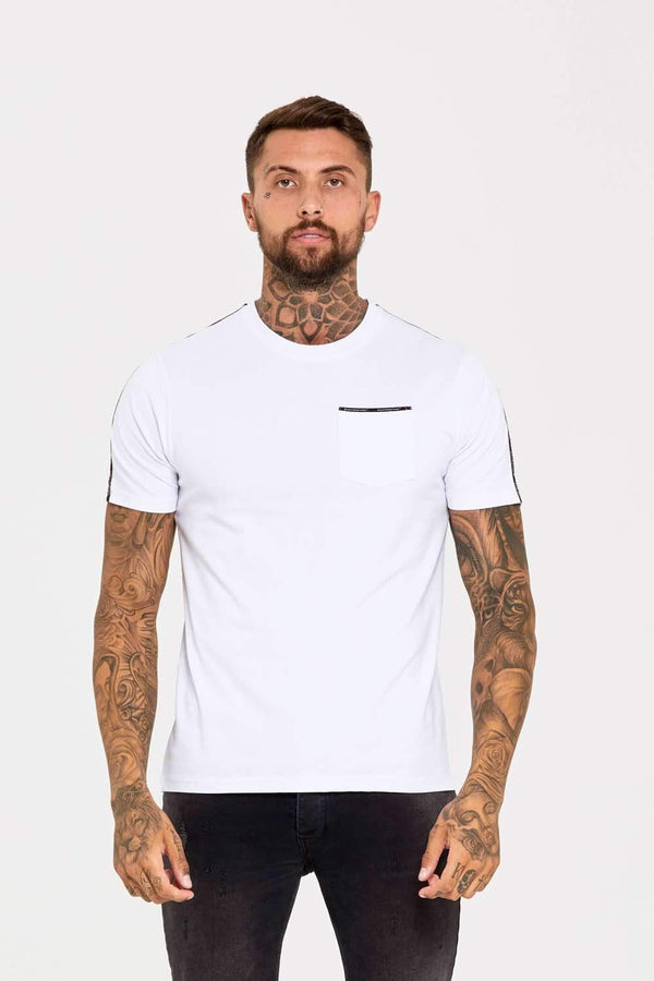 Good For Nothing Fitted Micro Taping T-Shirt - White