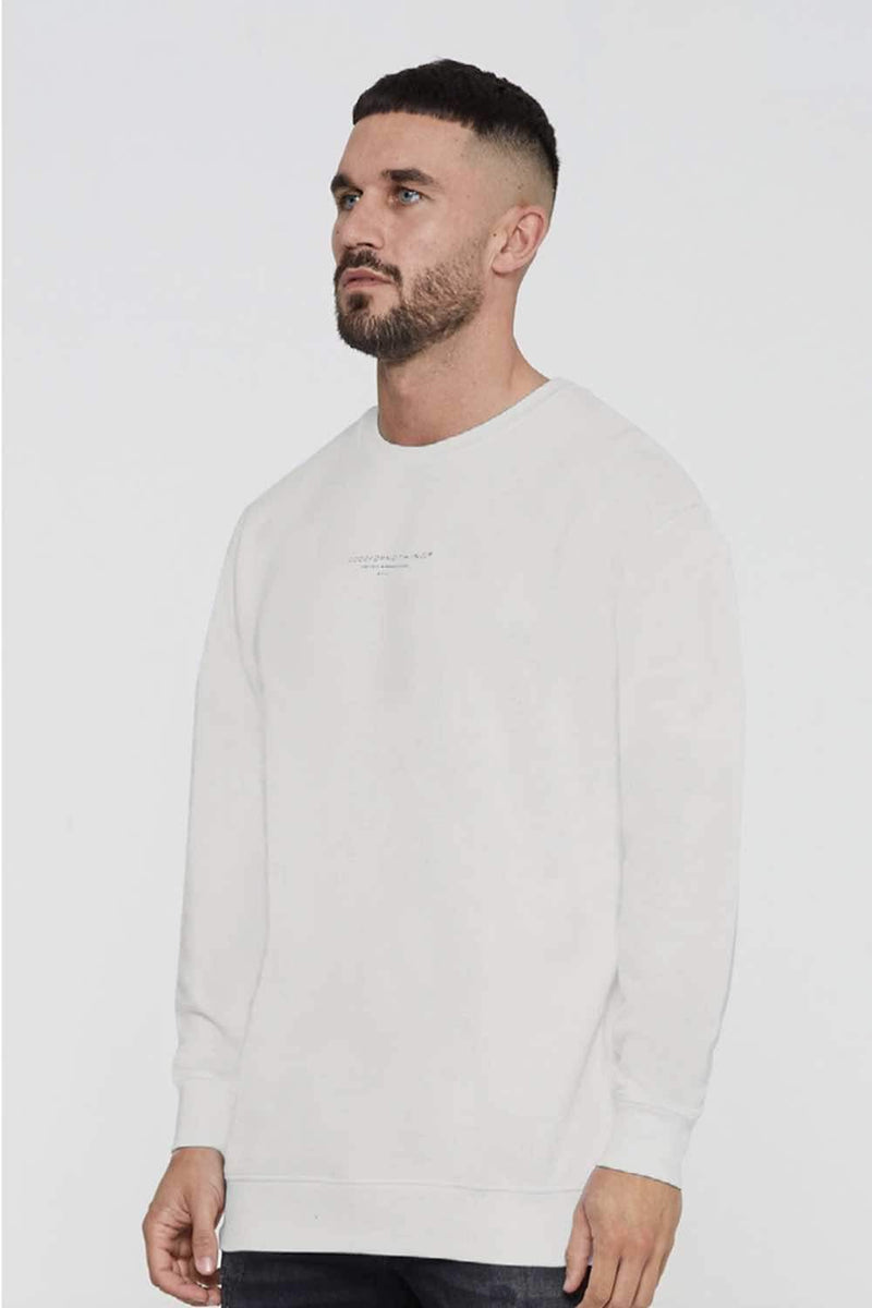 Good For Nothing Fitted Sweatshirt - Grey - 1