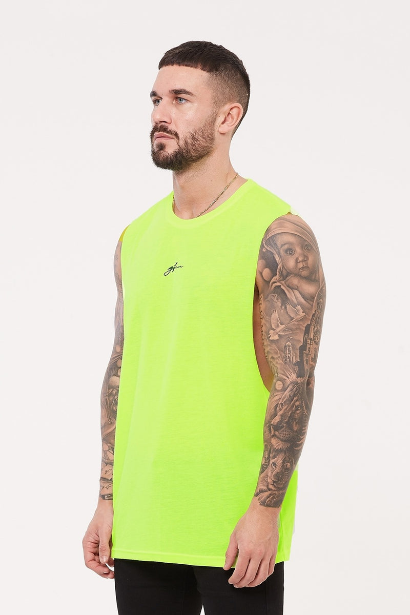 Good For Nothing Future Cut Away Vest - Neon Green - 2