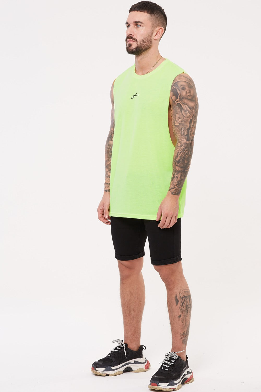 Good For Nothing Future Cut Away Vest - Neon Green - 1