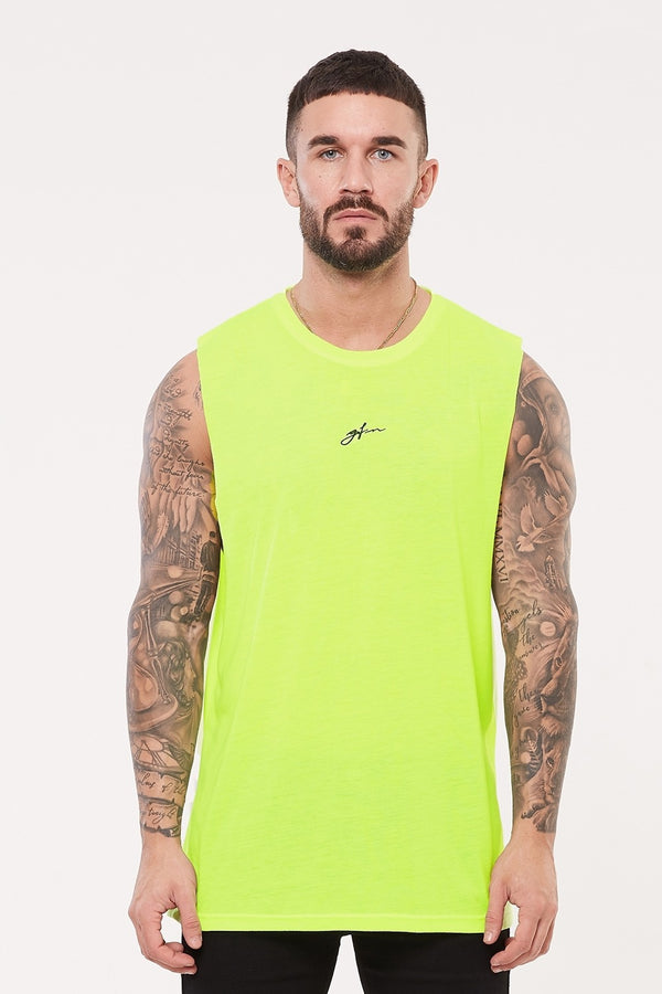 Good For Nothing Future Cut Away Vest - Neon Green