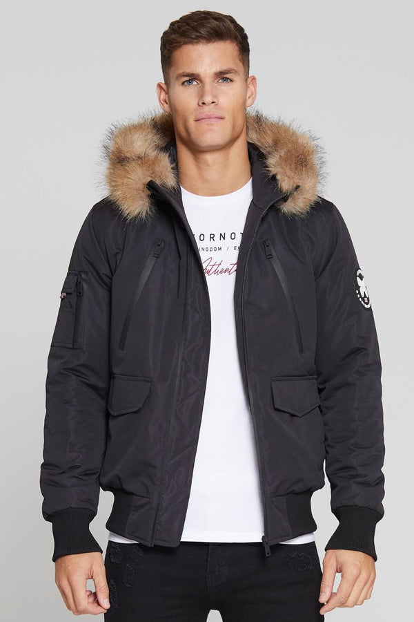 Good For Nothing Glacier Bomber Parka - Black - 3