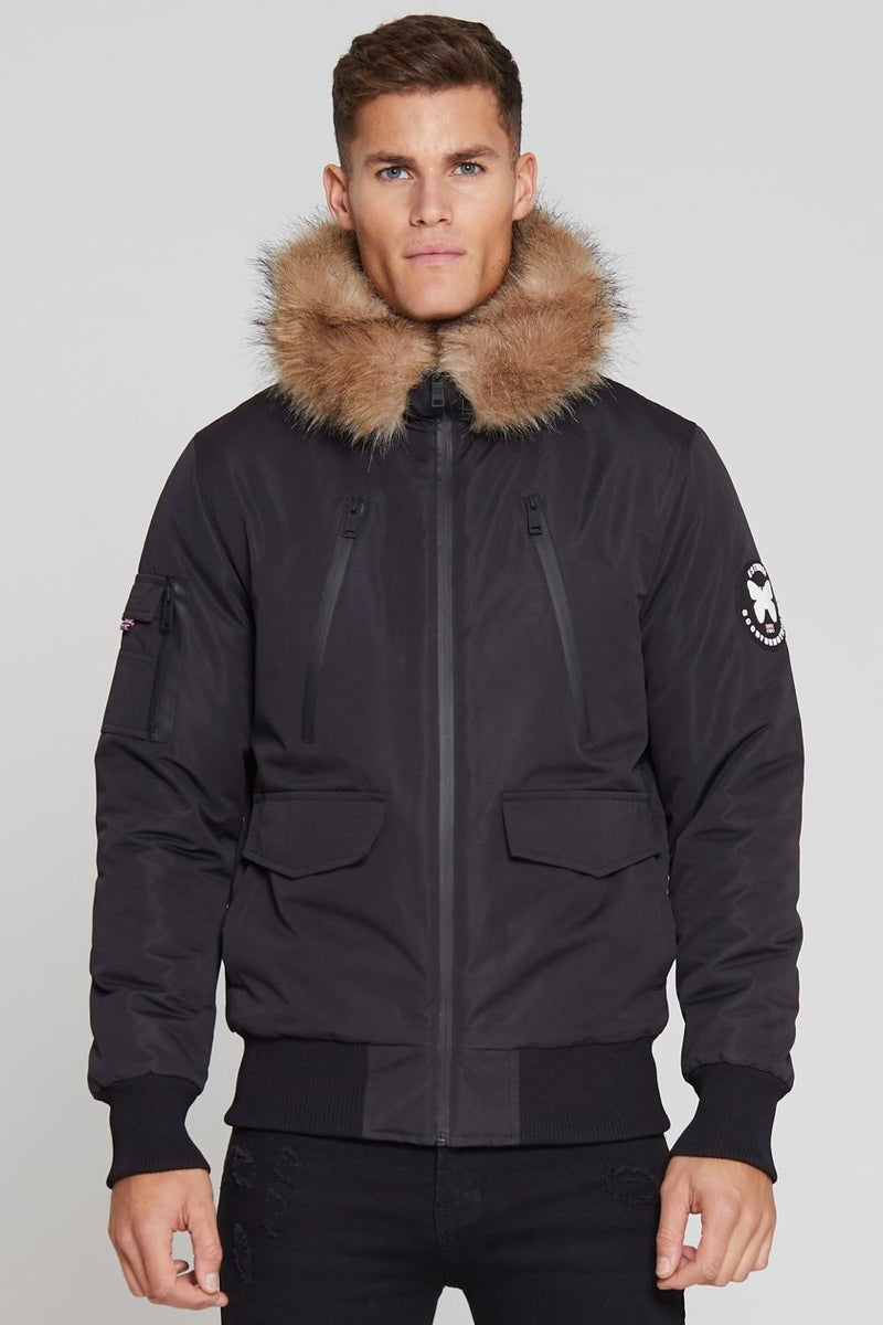 Good For Nothing Glacier Bomber Parka - Black