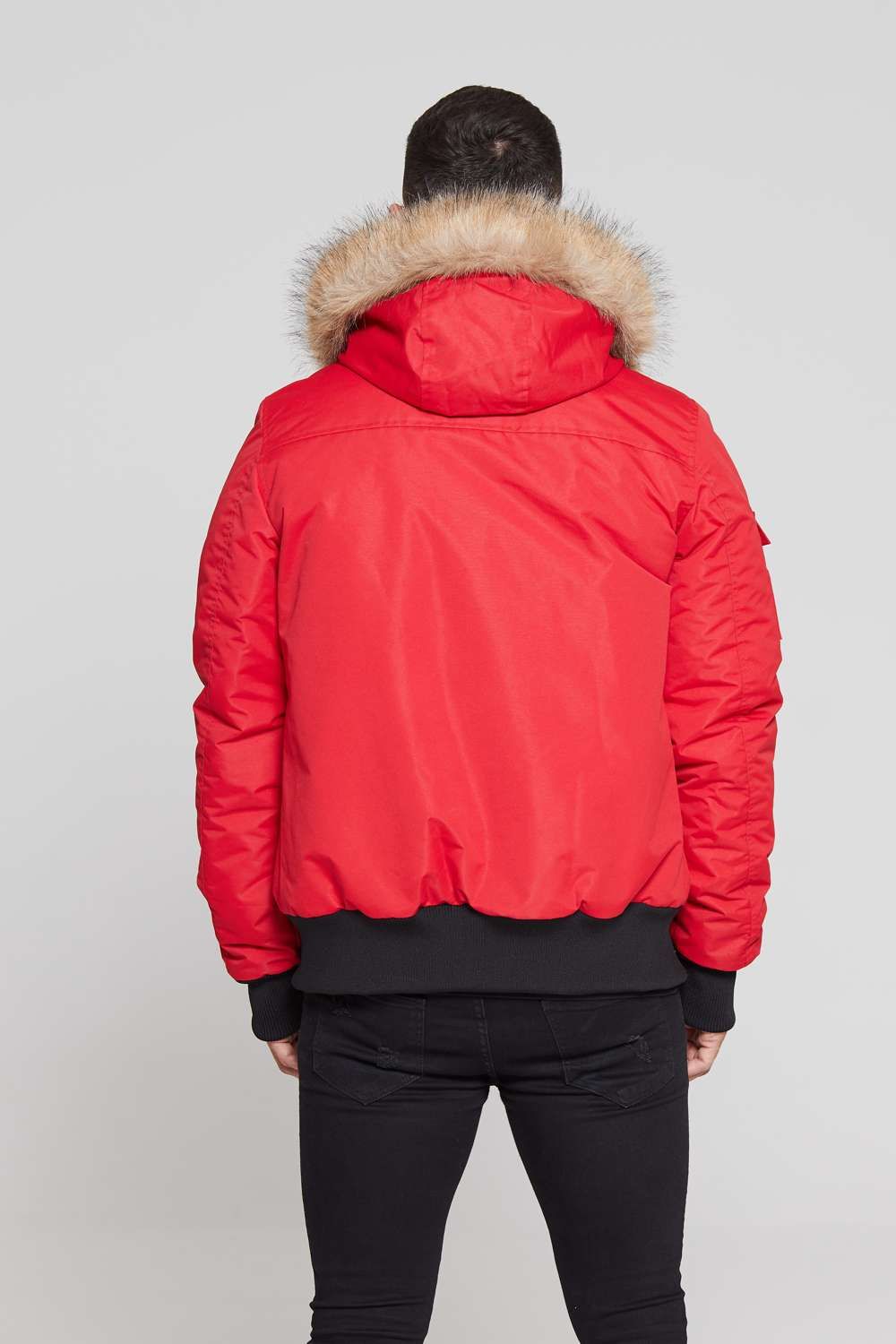 Good For Nothing Glacier Bomber Parka - Red - 1