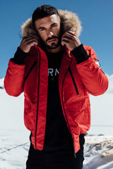 Good For Nothing Glacier Bomber Parka - Red - 4