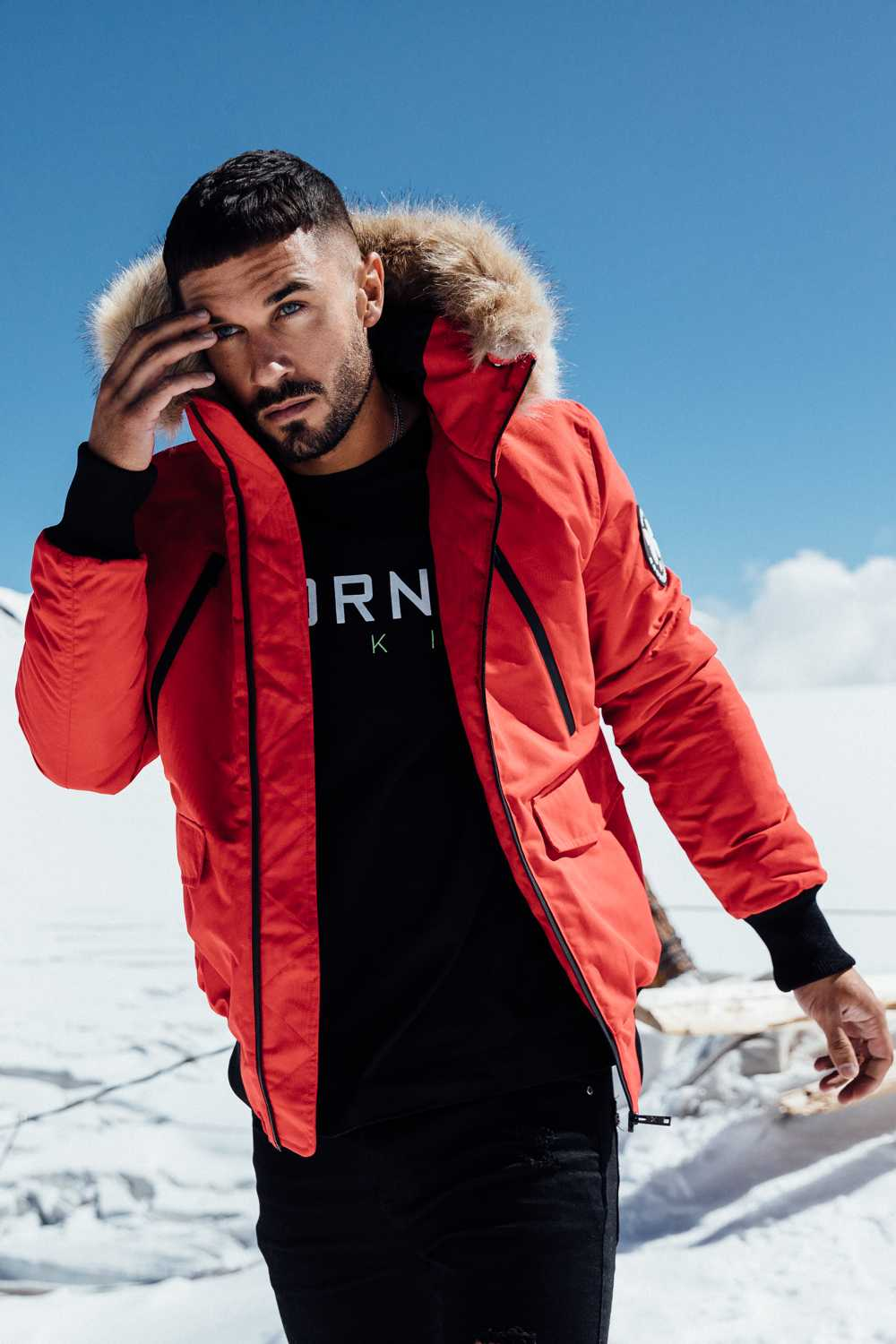 Good For Nothing Glacier Bomber Parka - Red - 3