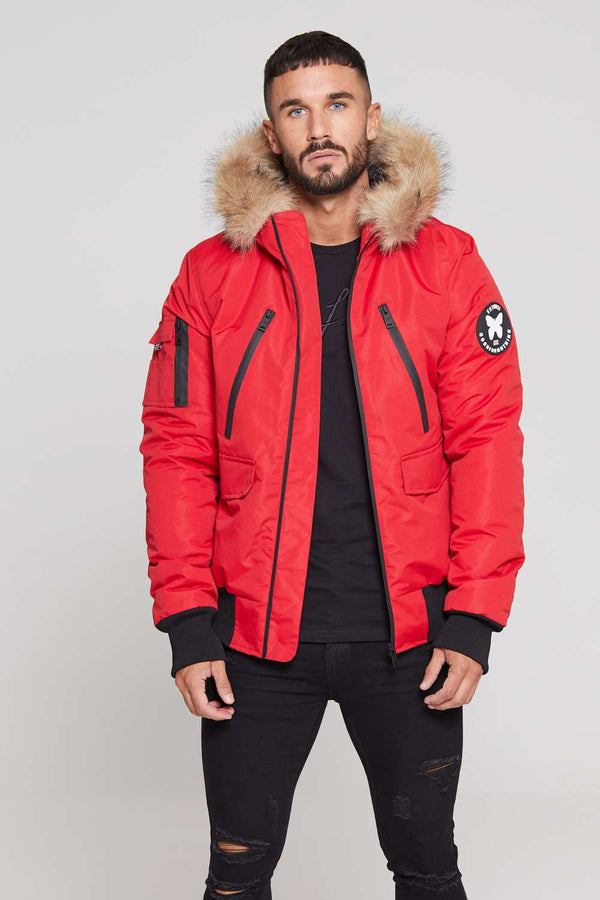 Good For Nothing Glacier Bomber Parka - Red