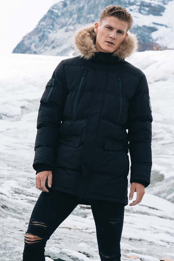 Good For Nothing Glacier Parka Jacket - Black