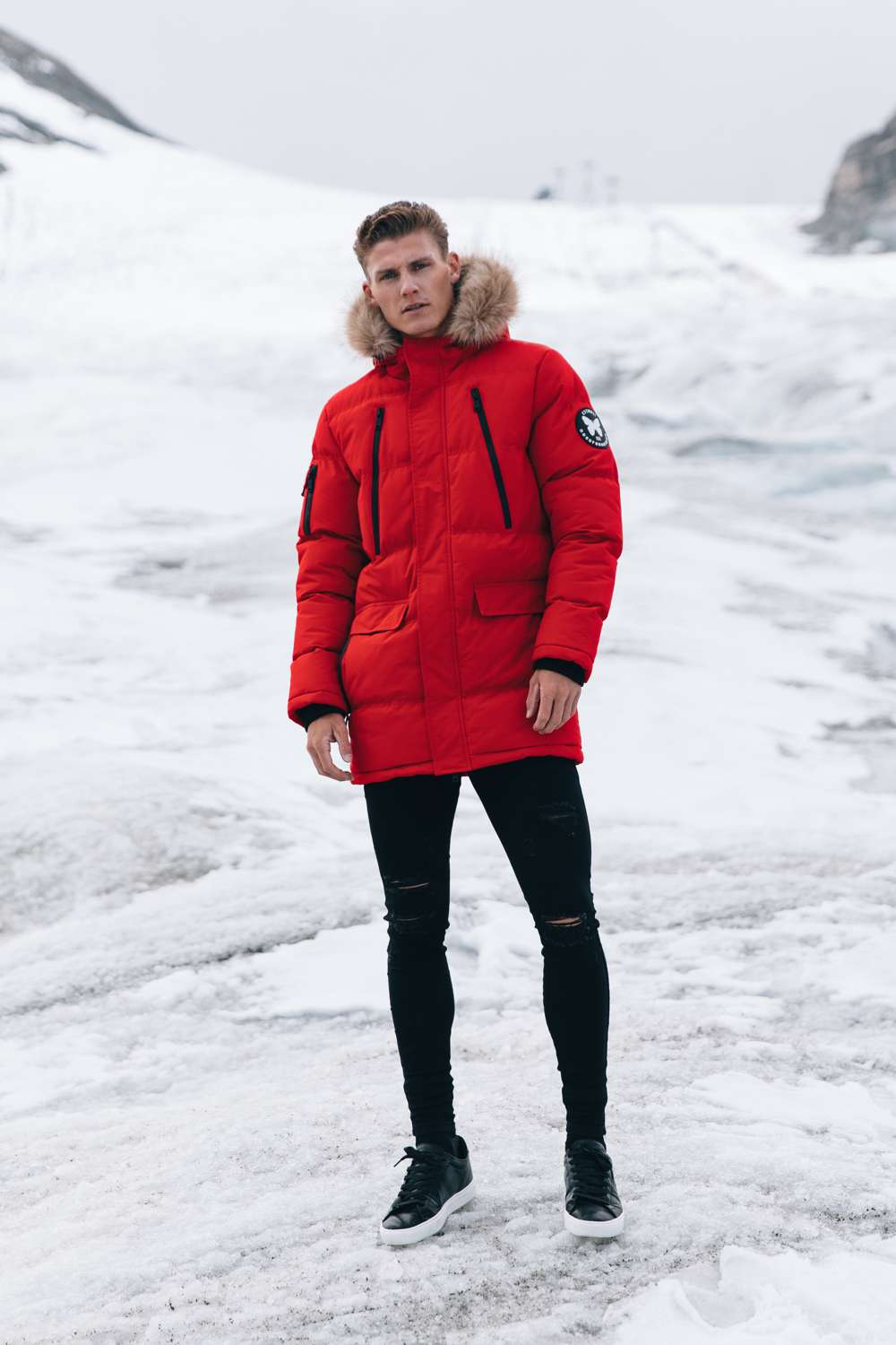 Good For Nothing Glacier Parka Jacket - Red - 3