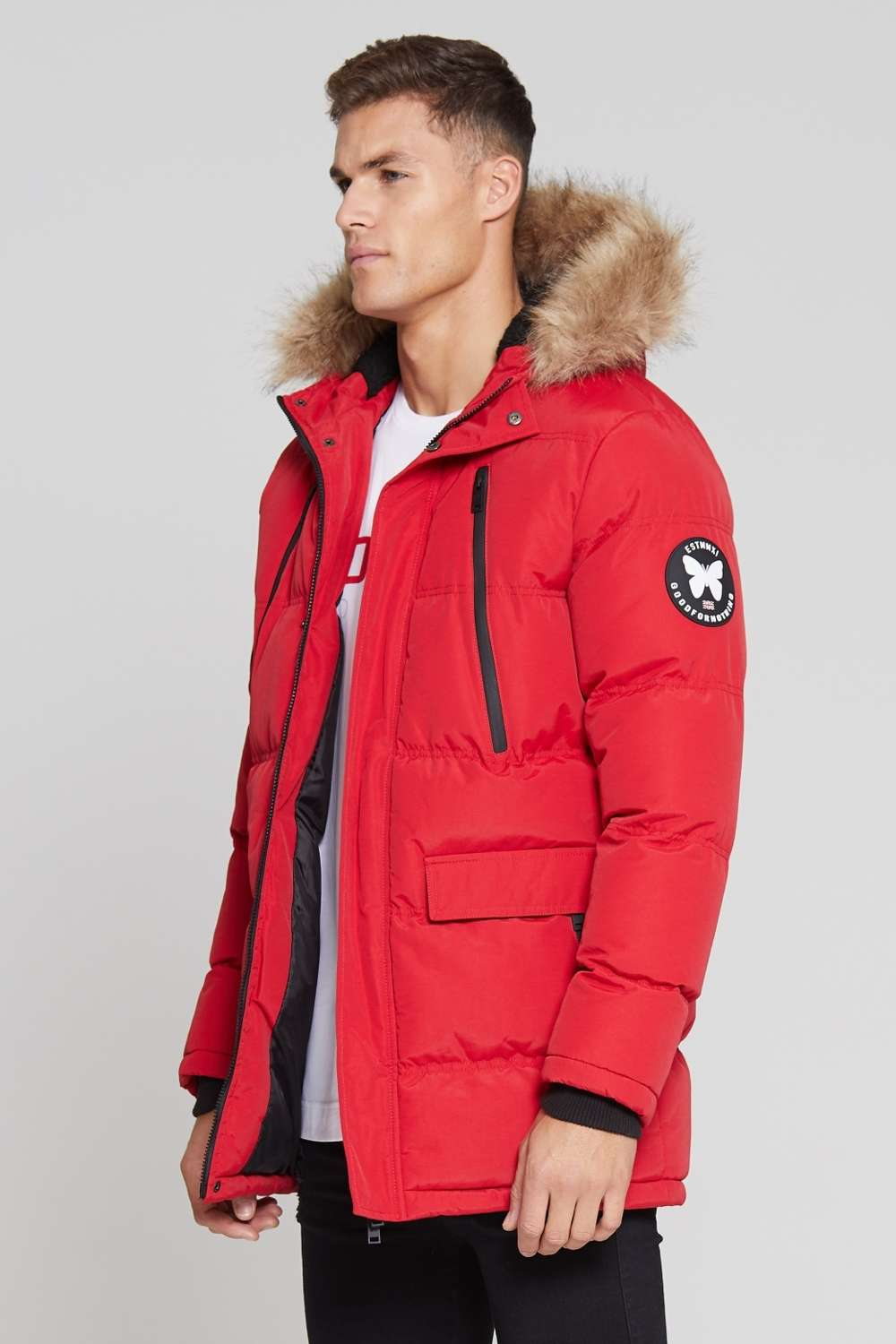 Good For Nothing Glacier Parka Jacket - Red - 2