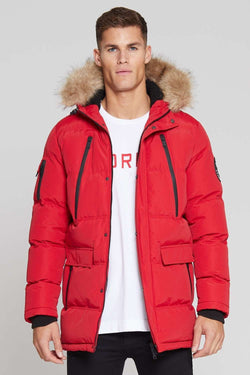 Good For Nothing Glacier Parka Jacket - Red