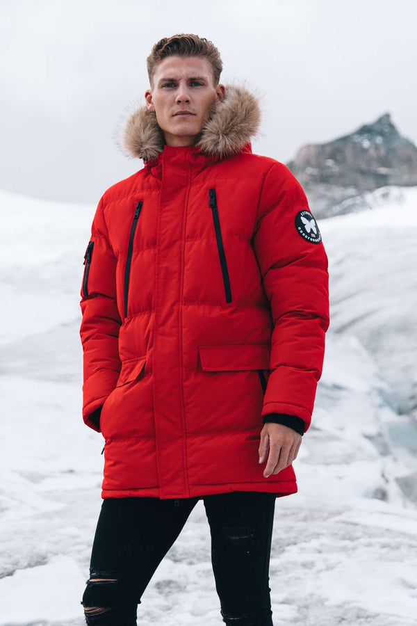 Good For Nothing Glacier Parka Jacket - Red - 1