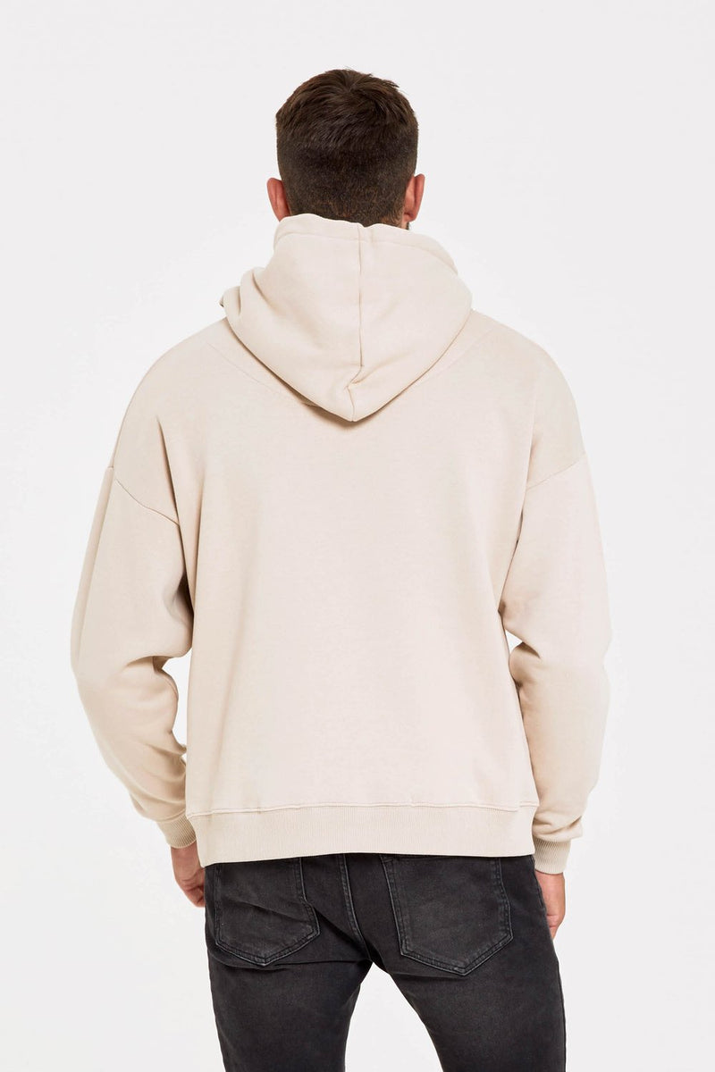 Good For Nothing Oversized Archive Hoodie - Stone - 3