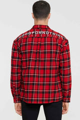Good For Nothing Oversized Check Shirt - Red - 4