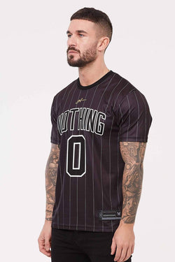 Good For Nothing Pinstripe Nothing Jersey - Black