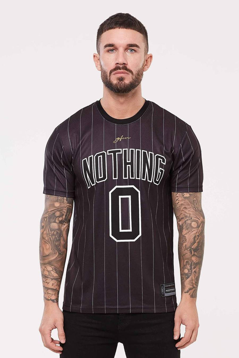 Good For Nothing Pinstripe Nothing Jersey - Black - 3