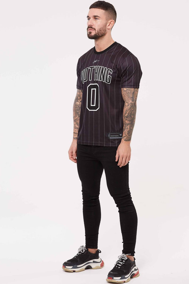 Good For Nothing Pinstripe Nothing Jersey - Black - 1
