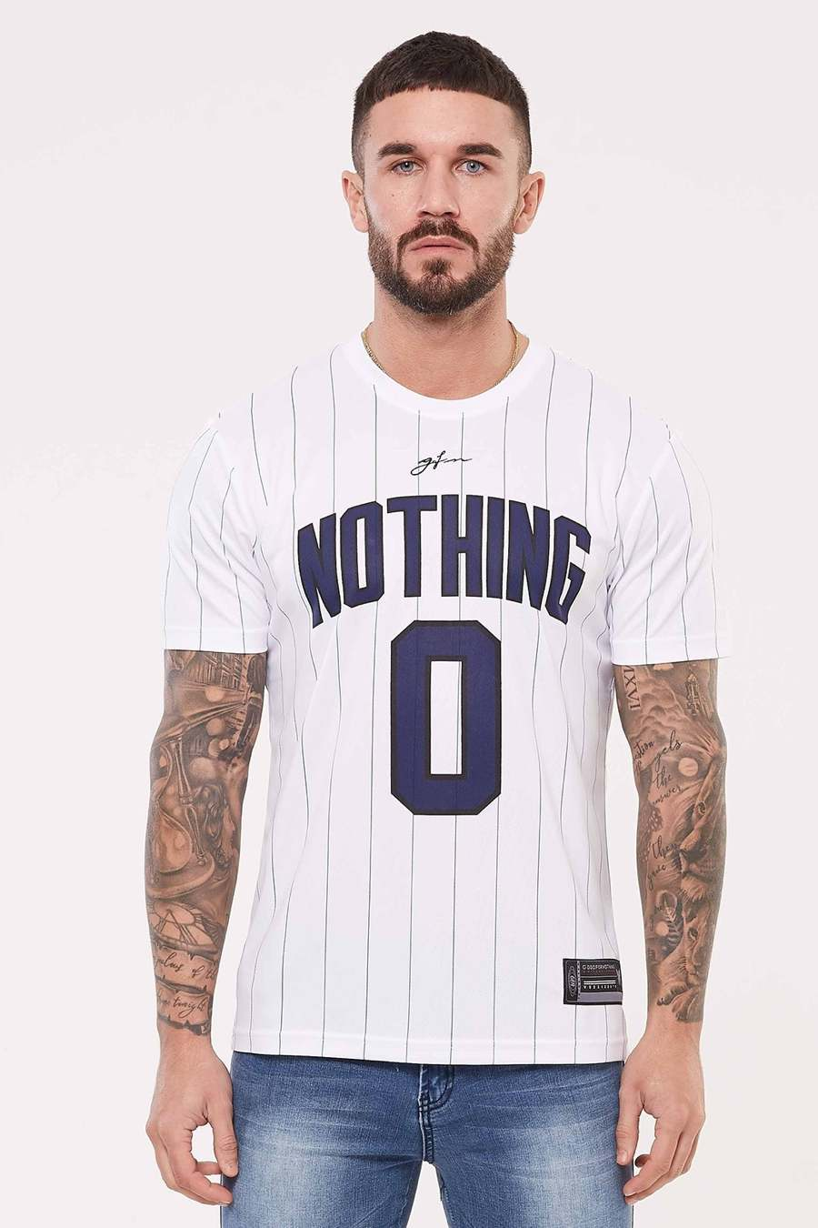 Good For Nothing Pinstripe Nothing Jersey - White - 2