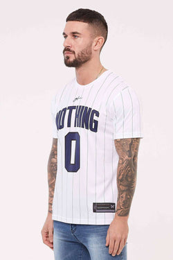 Good For Nothing Pinstripe Nothing Jersey - White
