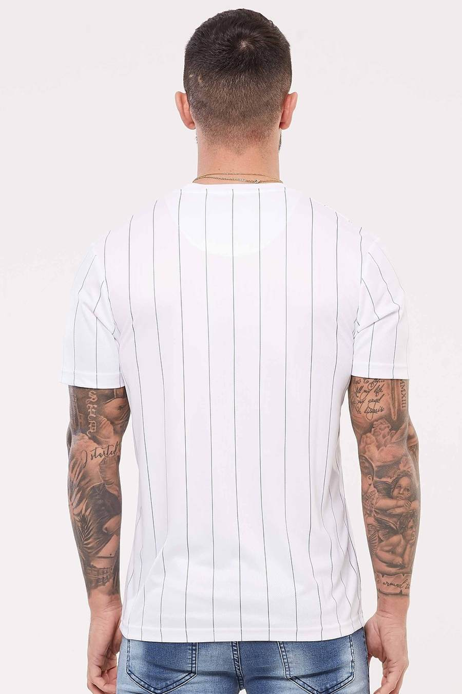 Good For Nothing Pinstripe Nothing Jersey - White - 3
