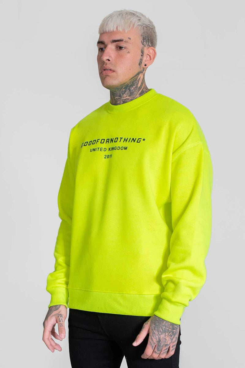Good For Nothing Oversized Sweater - Neon Yellow - 1