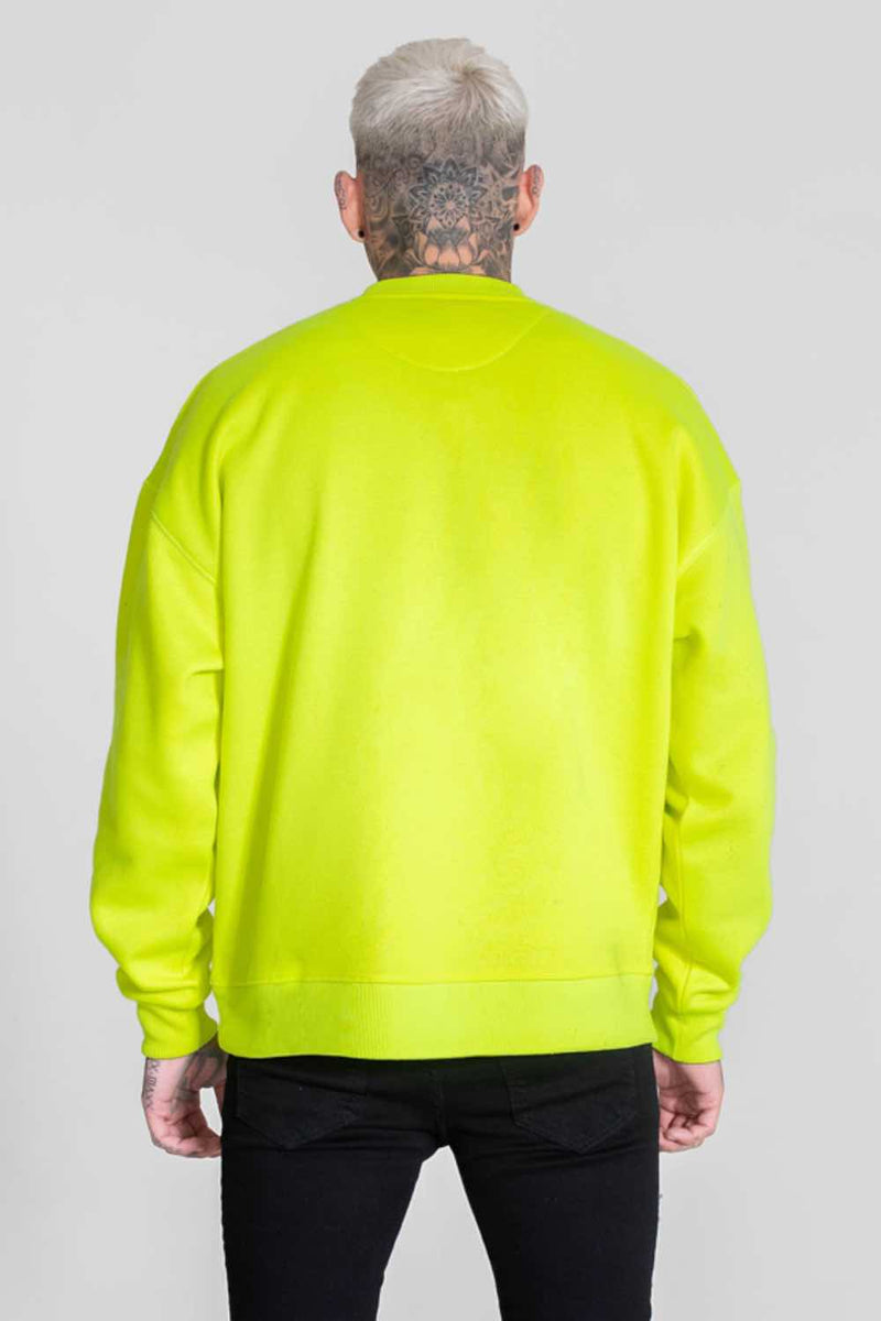 Good For Nothing Oversized Sweater - Neon Yellow - 2