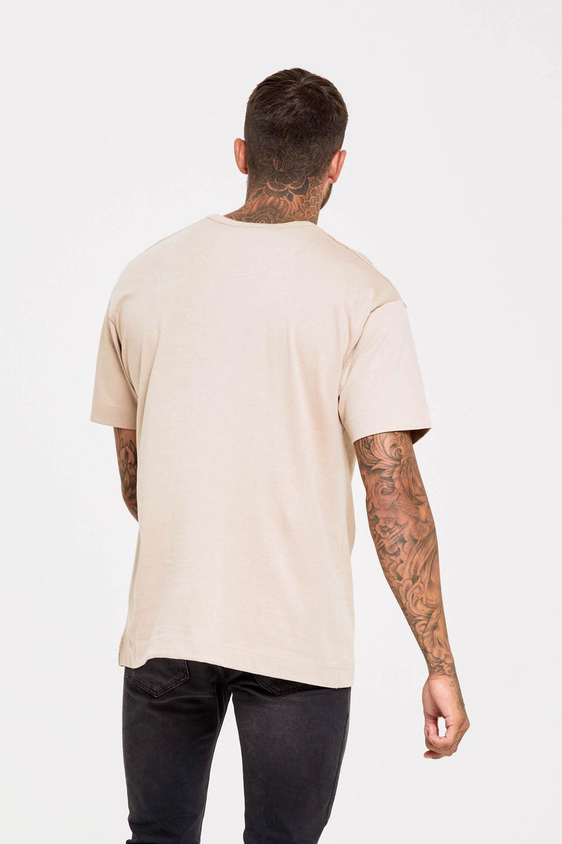 Good For Nothing Oversized T-Shirt - Stone - 1