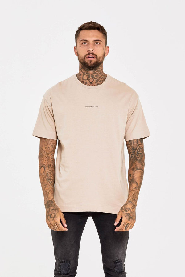 Good For Nothing Oversized T-Shirt - Stone