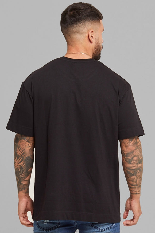 Good For Nothing Palm Oversized T-Shirt - Black - 1