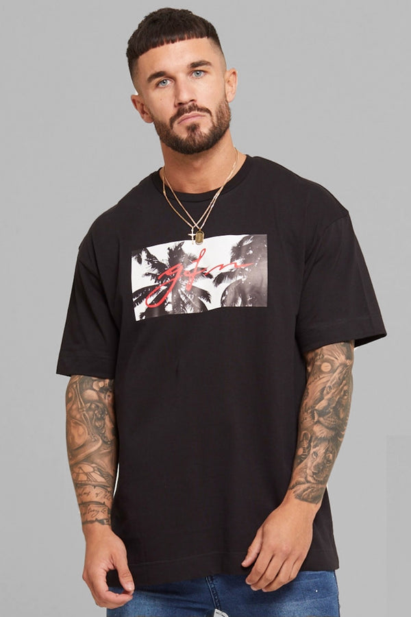 Good For Nothing Palm Oversized T-Shirt - Black