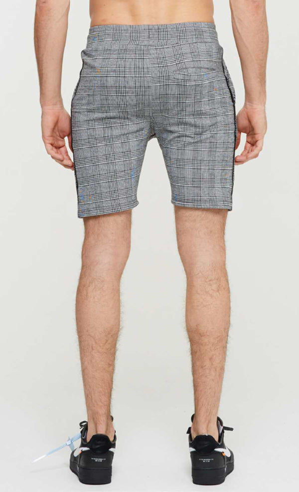 Good For Nothing Prince Of Wales Check Shorts - Grey - 1