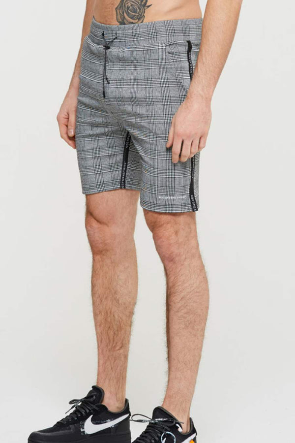 Good For Nothing Prince Of Wales Check Shorts - Grey