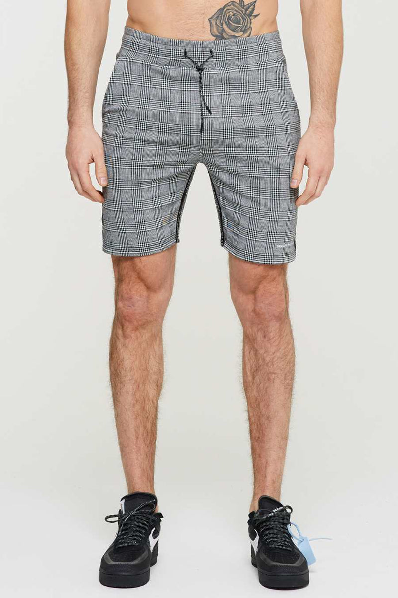 Good For Nothing Prince Of Wales Check Shorts - Grey - 2
