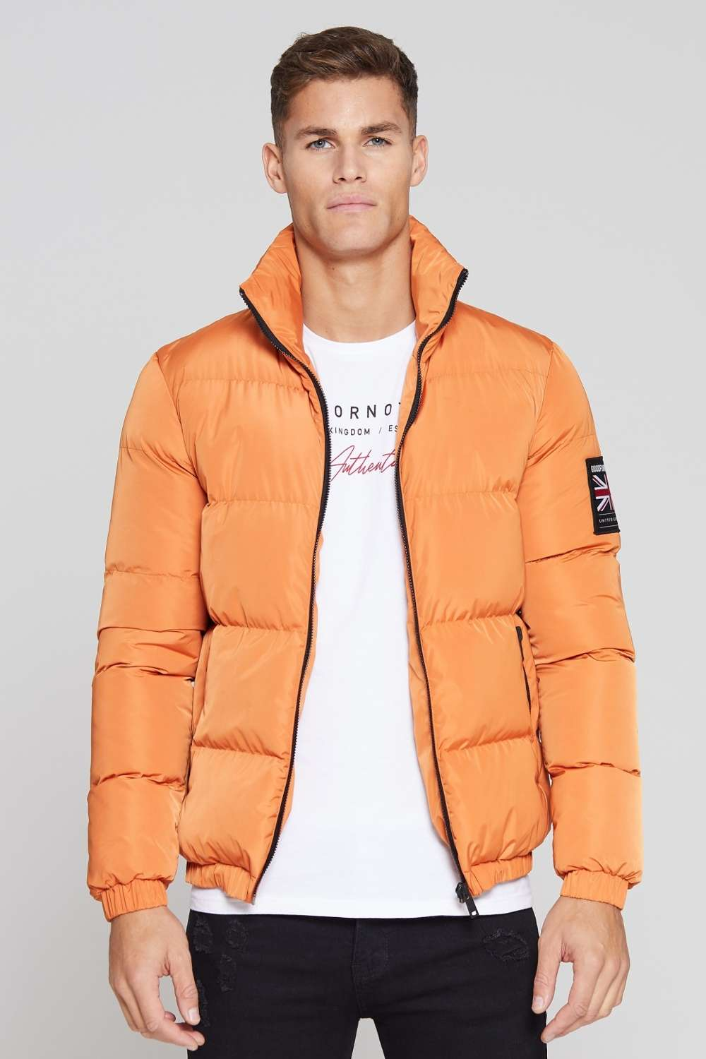 Good For Nothing Road Puffer Jacket - Orange - 3