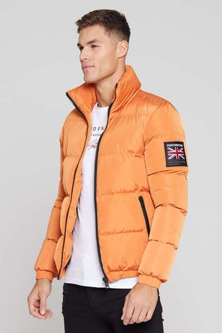 Good For Nothing Road Puffer Jacket - Orange - 1