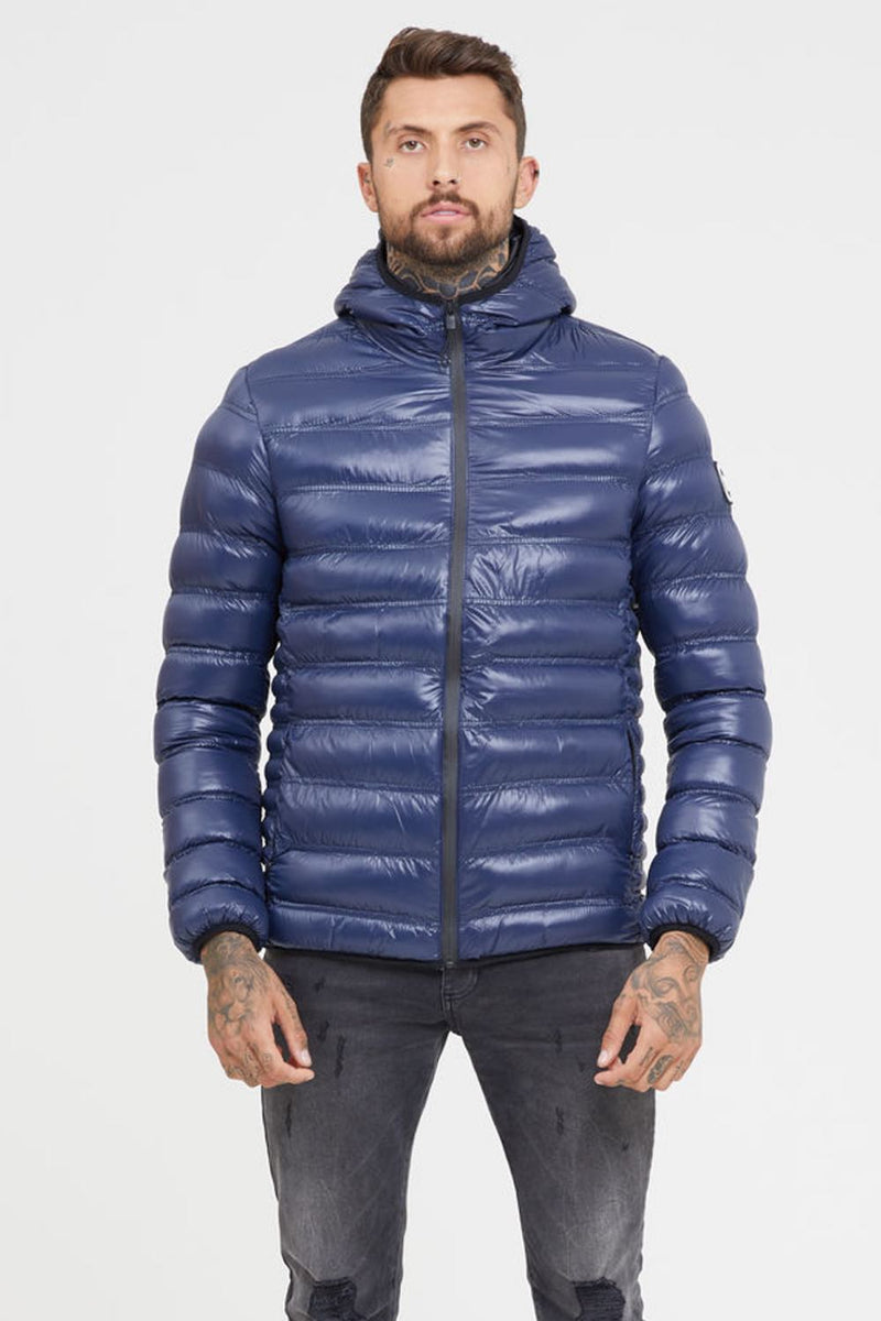 Good For Nothing Shine Puffer Jacket - Blue