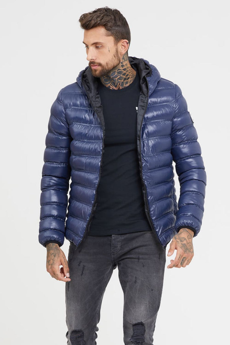 Good For Nothing Shine Puffer Jacket - Blue - 3