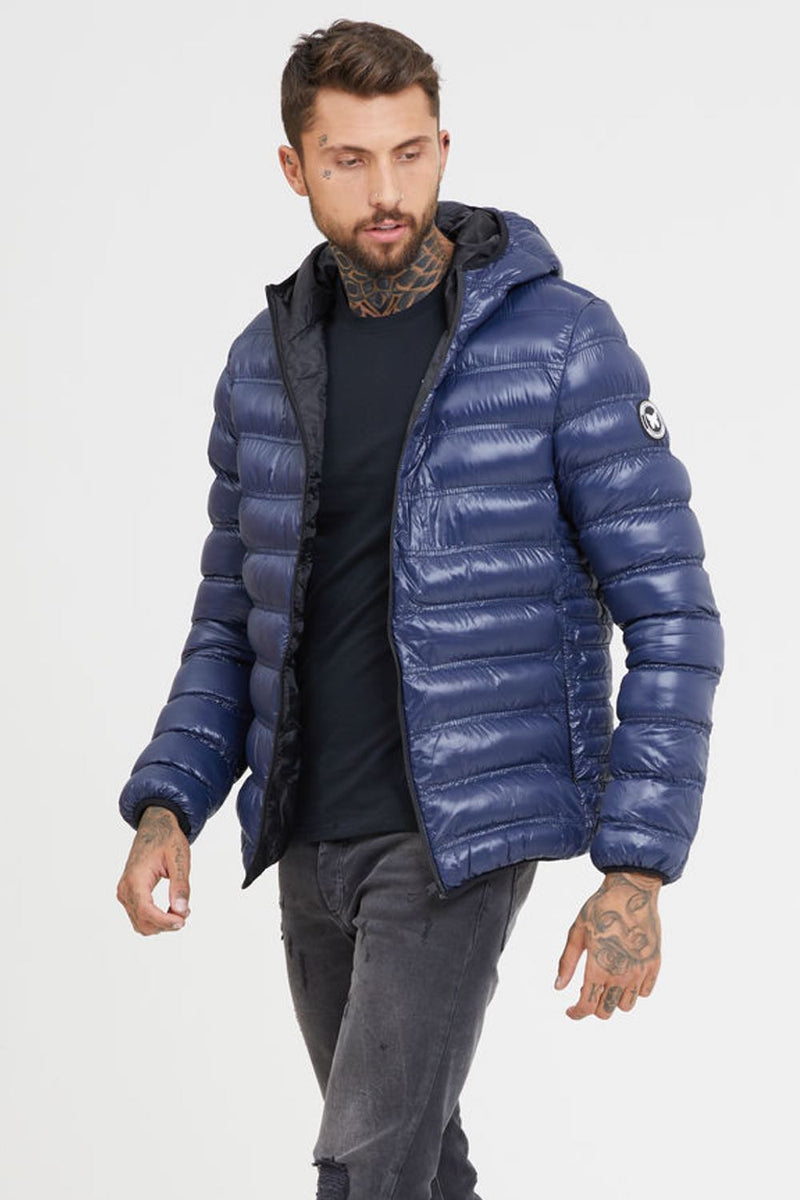 Good For Nothing Shine Puffer Jacket - Blue - 2