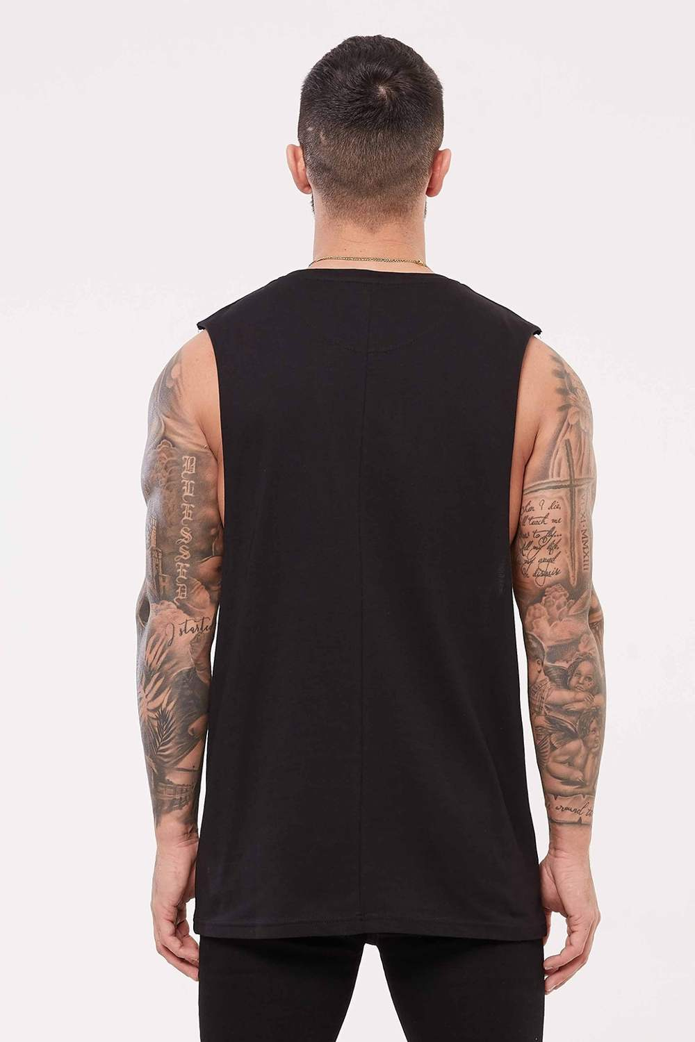 Good For Nothing Signature Cut Away Vest - Black - 3