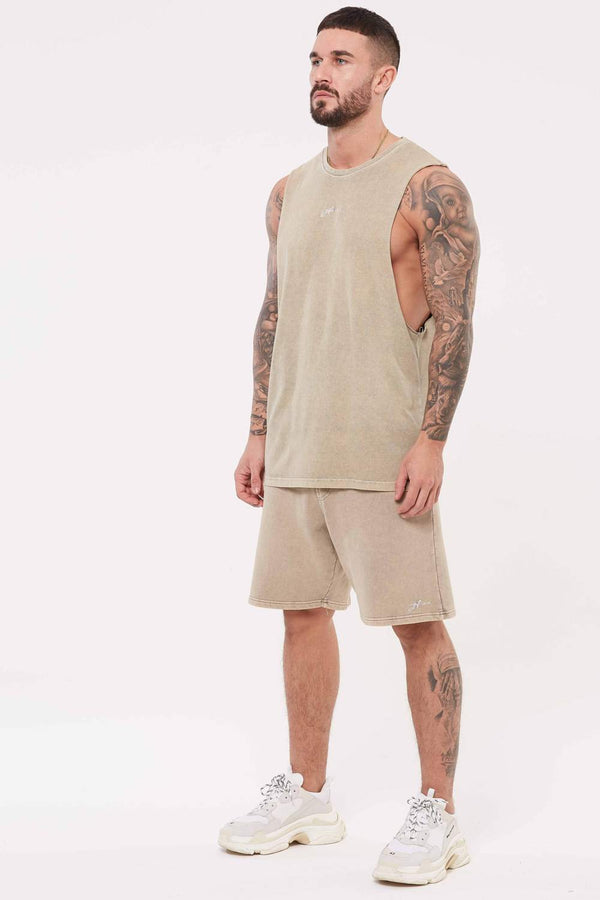 Good For Nothing Signature Jersey Shorts - Stone Wash - 1