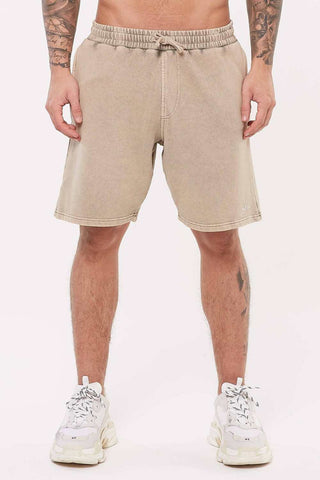 Good For Nothing Signature Jersey Shorts - Stone Wash