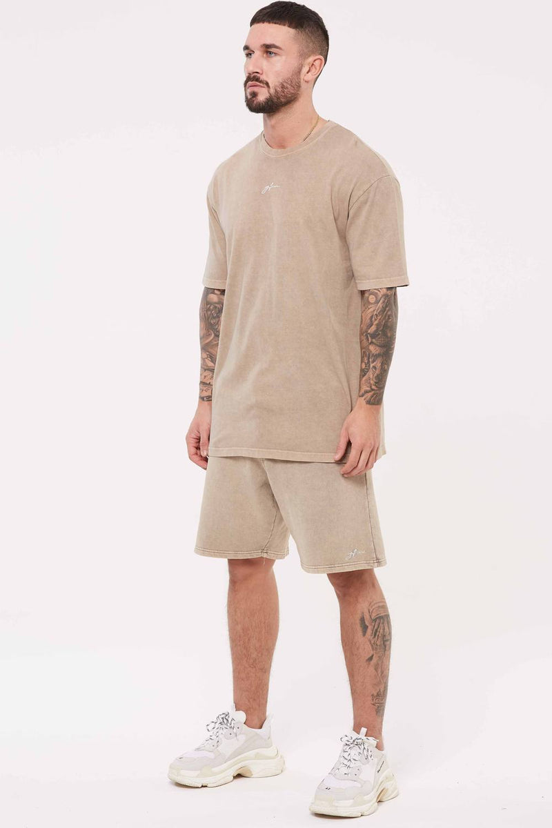 Good For Nothing Signature Oversized T-Shirt - Stone Wash - 1