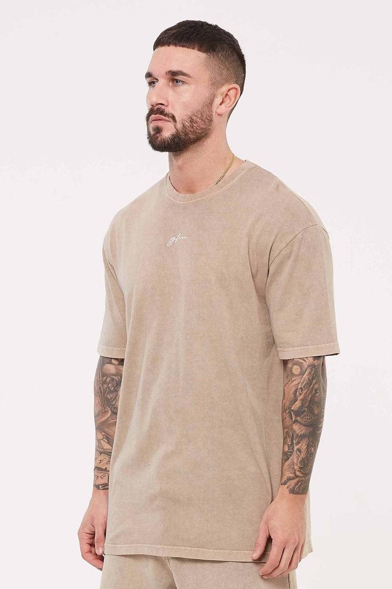 Good For Nothing Signature Oversized T-Shirt - Stone Wash